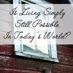 Is it really possible to live simply in today's world? I think that depends on your definition of simple living....
