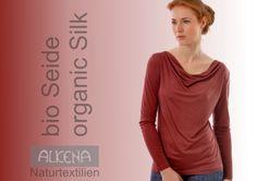 Verschiedene Seidenprodukte Alkena Ethical Shopping, Restaurants, Long Sleeve, Sleeves, Mens Tops, T Shirt, Fashion, Pajama Set, Silk