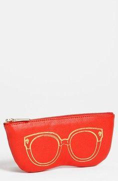 Protect your specs. Rebecca Minkoff Leather Sunglasses Case