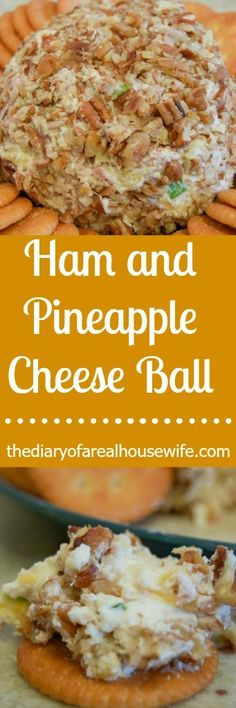 Ham and Pineapple Cheese Ball. This was a great cheese ball recipe. I think it's officially the hubbys new fav!