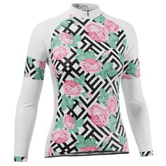 Women's Floral Maze Long Sleeve Cycling Jersey – Online Cycling Gear – Free Shipping – Lowest Prices! Women's Cycling Jersey, Cycling Gear, Cycling Jerseys, Cycling Outfit, Female Cyclist, Maze, Body Shapes, Female Bodies, Long Sleeve