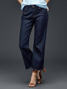 Balenciaga - Rockabilly Cropped Low-rise Wide-leg Jeans - Light ...