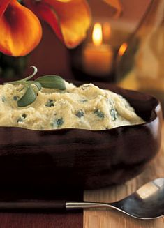 creamy mashed potatoes with goat cheese and fresh sage creamy mashed ...