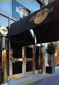 Hard Rock Cafe - 1699 Van Ness Avenue, San Francisco  (Closed August, 2002).  Relocated to Pier 39.