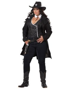 Round Em Up Cowgirl Adult Womens Plus Size Costume
