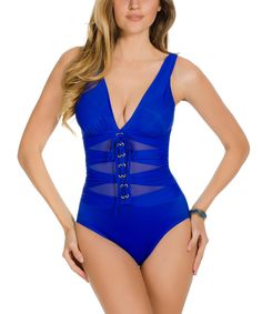 98fc664bed47a Look what I found on #zulily! Miraclesuit Blue Suit Yourself Ansonia  One-Piece