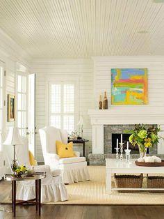 Classic Wood Paneling Ceiling #basementwallandceilingideas