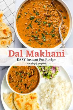 Instant Pot Dal Makhani is a creamy lentil dish cooked with whole black lentils and kidney beans. It is lightly spiced and can be served as a chili or with naan and rice! Healthy Curry Recipe, Healthy Indian Recipes, Curry Recipes, Instant Recipes, Instant Pot Dinner Recipes, Delicious Dinner Recipes, Makhani Recipes, Biryani Recipe, Instant Pot Curry Recipe