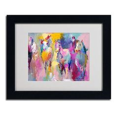 """Trademark Art 'Wild' by Richard Wallich Framed Painting Print Size: 16"""" H x 20"""" W x 0.5"""" D, Frame Color: Wood Grain"""