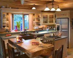 Kitchen-design-ideas-for-log-homes-photo-9