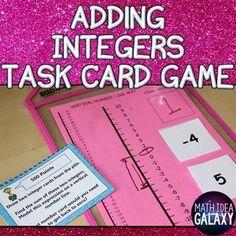 How to Make Adding Integers Stick Forever - Idea Galaxy Math Notebooks, Interactive Notebooks, 7th Grade Math, Math Class, Math Education, Math Teacher, Teacher Stuff, School Teacher, Integers Activities