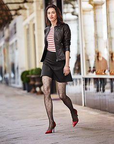 Odkryj to właśnie w Tchibo. Kawa, dom i mieszkanie, sport. Leather Leggings, Leather Skirt, Thigh High Leggings, Paris Mode, Stocking Tights, Elegant, Thigh Highs, Capsule Wardrobe, What To Wear
