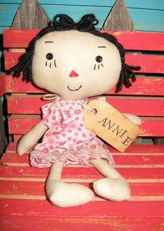 Adorable Primitive Raggedy Ann Doll Annie by tagalongstreasures, $10.00