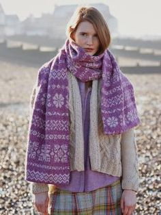 Oak Scarf- Knit this two colour accessory scarf from Windswept. A design by Marie Wallin using the gorgeous yarn Felted Tweed (wool,alpaca and viscose)...