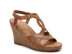 Women's Aerosoles Wonderplush Wedge Sandal - Tan