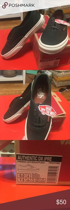 BNIB Authentic DX lo pro vans ! Green leather ! Premium leather emerald green vans !! The coolest color and awesome feel and look! With ultra Cush soles extremely comfy ! Vans Shoes Sneakers