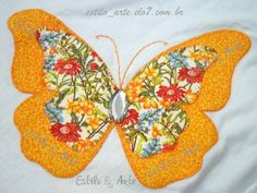 Heavy Chain Stitch in Hand Embroidery (Step By Step & Video Twin Quilt Pattern, Butterfly Quilt Pattern, Applique Quilt Patterns, Hand Applique, Applique Designs, Hand Embroidery, Flower Applique, Patch Quilt, Quilt Blocks