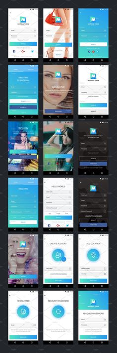 Buy Material Theme UX/UI Kit by tonytranstore on GraphicRiver. Material Theme UX/UI Kit is an expertly kit for ANDROID effortless prototyping and mobile app design assistance. Android App Design, Ios App Design, Iphone App Design, Mobile App Design, Login Design, Android Ui, Graphisches Design, Graphic Design, Design Ideas