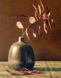 Grey Vase and Cotinus, tom wood