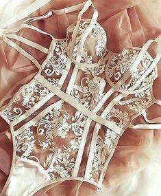 Victoria's secret intimate apparel, bodysuit, and lingerie outfit ideas. Seductive Lingerie, nightwear and wedding undergarments. Lingerie Mignonne, Jolie Lingerie, Lingerie Outfits, Sheer Lingerie, Pretty Lingerie, Wedding Lingerie, Lingerie Sleepwear, Beautiful Lingerie, Lingerie Set