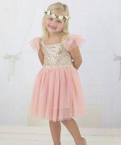 Rosa y oro Vestido de lentejuelas Sparkle - niño, del niño y niñas $ 29.99 por vivianvivian