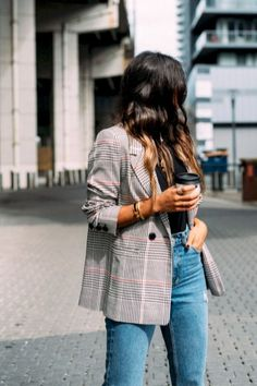60 Casual Blazer Outfit for Women You Must Have casual blazer outfits - Casual Outfit Blazer Outfits Casual, Blazer Outfits For Women, Best Casual Outfits, Blazer Fashion, Blazers For Women, Fashion Outfits, Fashion Women, Blue Blazer Outfit, Fashion Trends