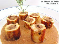 Solomillos de pollo rellenos con salsa de piñones y membrillo