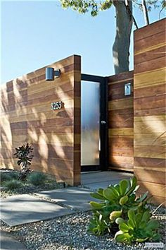 Love the idea of an offset entrance from the street. Would need to soft with garden though.