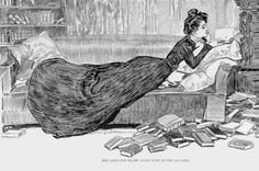 "gdfalksen:"" A classic Gibson Girl, and a perfect Varanus image.Text: ""She looks for relief among some of the old ones. Feel Good Books, I Love Books, Books To Read, La Fille Gibson, Ink Illustrations, Illustration Art, Charles Dana Gibson, Better Books, Gibson Girl"