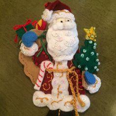 Bucilla Must Be Santa Felt Christmas Advent Calendar Kit Felt Stocking Kit, Christmas Stocking Kits, Felt Christmas Stockings, Felt Christmas Ornaments, Christmas Toys, Christmas Decorations, Greeting Card Holder, Poinsettia, Christmas Express