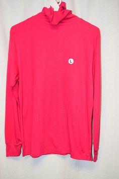 Womens Shirt Sz L By Lindsey Blake Pink Turtleneck NWT Long Sleeve Pull Over Vtg #LindseyBlake #Turtleneck #Casual