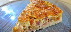 Quiche met prei, drie soorten ui en pancetta