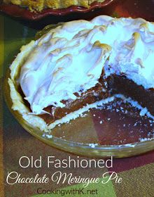Cooking with K: Old Fashioned Chocolate Meringue Pie {Granny's Recipe}
