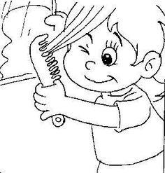 Hair Scan Coloring Page - Preschool Children Akctivitiys