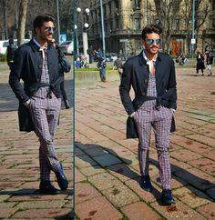 http://www.fashiondupes.com/2014/02/milan-fashion-week-street-style.html #fashiondupes #fashionweek #milanfashionweek #milan #streetstyle #look #ootd #marianodivaio