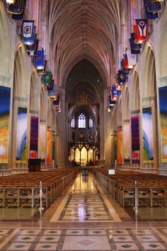 Washington National Cathedral: sang there with either YSP or my high school choir.  Beautiful!