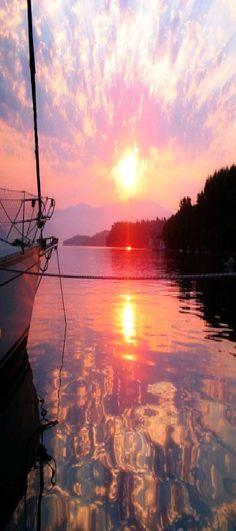 Sunrise at Nidri Island, Greece www.liberatingdivineconsciousness.com