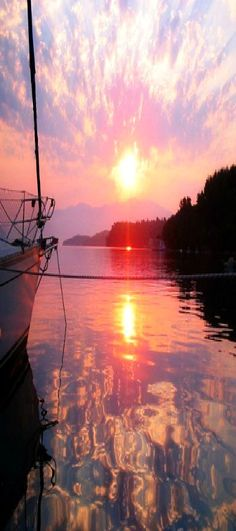 Sunrise at Nidri Island, Greece.