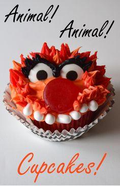 Animal! Muppet Cupcake Tutorial | Mouse Ears Mom | Bloglovin'