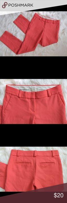 Ann Taylor LOFT perfect skinny dress pants Women's ANN TAYLOR LOFT Marisa dress pants. Solid pink color. Size 00 XS. Ann Taylor Pants Straight Leg