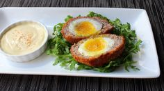Scotch Eggs... Soft boiled egg wrapped in sausage then breaded and fried. This should be a food group.