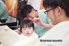 #はじめてのカット #赤ちゃんカット #ヘアーサロンカモシダ Kids Cuts, Children Haircuts