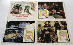 Lot 19 - The Guns of Navarone 1961 Lobby Cards, USA set of eight,14 inches x 11 inches in fair to good