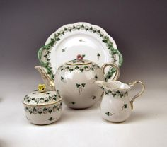 Herend Tea Set for Six Persons Decor Persil, circa 1960 5