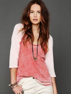 Free People We The Free Long Sleeve Cotton Candy Burnout Top, $78.00