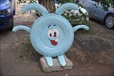 Resultado de imagen para decoracion de jardines con cosas recicladas