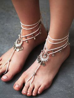Love the Free People Macrame Anklet Duo on Wantering.