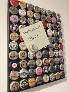 magnets with bottle caps beer