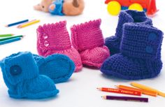 Keep your tot snug and stylish with Zoe Halstead's baby knitted ugg boots