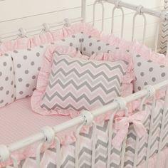 Pink and Gray Chevron Nursery Decor #carouseldesigns